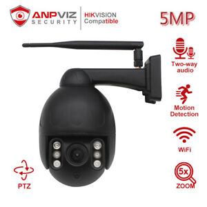 Anpviz 5MP WIFI PTZ IP Camera 5X Outdoor IP66 Two-way Audio Security Camera H265