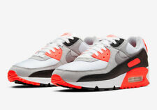 2020 Nike Air Max 90 Infrared White Cool Grey Radiant Red CT1685-100 Size 4Y-13