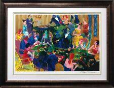 """LeRoy Neiman """"Desert Inn Baccarat"""" Framed Signed Serigraph Art Casino Vegas"""
