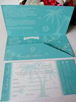 Sample Wedding Invitation Flight Ticket Abroad Holiday Invite Boarding Pass RSVP