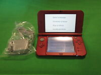 Nintendo New 3DS XL Red Handheld Console Very Good 8807