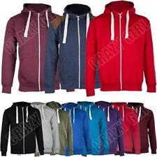 Unbranded Fleece Zip Neck Hoodies & Sweats for Men