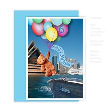 Boy happy birthday card 1st 2nd 3rd 4th 5th 6th 7th 8th 9th edit name bear