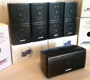 5 Bose Double Cube DoubleShot Speakers With Center Lifestyle Acoustimass Black