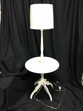 Pottery Barn Kids PBK Side Table Floor Lamp Light Base Bedside Night Stand White