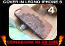 Cover Legno Iphone 6 6s Case Funda Vero Legno Naturale Incisioni Rilievo Figure