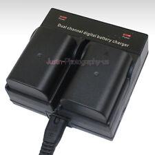 Dual Charger +2x Battery for Panasonic DMW-BLF19E DMW-BTC10e DMC-GH3 GH4 DMC-GH5