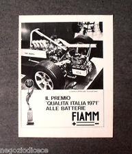 P280 - Advertising Pubblicità -1972- BATTERIA FIAMM 6FE6 , FORMULA ITALIA ABARTH