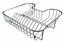 Chrome Plated in-Sink Drainer Dish Plates Rack Holder Bowls Mugs Stand Dryer