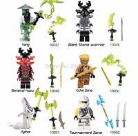 Ninjago Toy Ninja Mini Figures X 6 Zane,Pythor,Kozu,Yang Stone Warrior fit lego