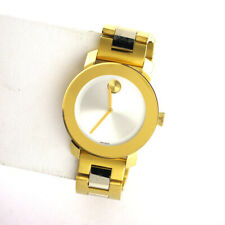 Movado Bold Stainless Steel Link Watch 3600129 Ladies 2 Hand Swiss Watch