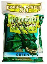 50 PROTECTIVE SLEEVES Green Verde MTG Dragon Shield