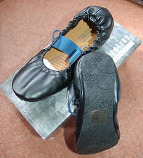 NEW Sz 6 Firetrap Black & Blue foldable slipper style flat comfort Shoes Elastic