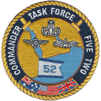 Navy Commander Task Force Five Two Patch