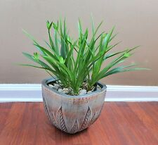 4 Orchid Grasses Artificial Bush Lifelike Plastic Plants Home Garden Decor