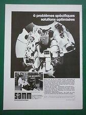 1983 PUB SAMM ELECTROHYDRAULIQUE COMMANDE ELECTRIQUE DE POINTAGE ARMEE CHAR AD