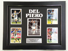 ALESSANDRO DEL PIERO  PROFESSIONALLY FRAMED, SIGNED PHOTO COLLAGE WITH PLAQUE