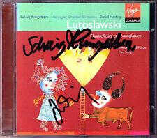 Daniel Harding & Solveig Cerchietto Born SIGNED Lutoslawski Chantefleurs Preludes CD