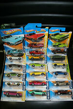 20 x ASSORTED 1/64 HOT WHEELS AMERICAN MUSCLE TYPE 60s & 70s CARS MIXED CARDS G