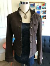 H&M brown military jacket size 8