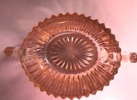 Vintage Open Sugar Bowl in Queen Mary-Pink by Anchor Hocking Depression Glass
