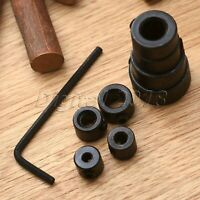 8Pcs Drill Depth Stop Collars Ring Dowel Shaft Chuck With Hex Wrench Accessories