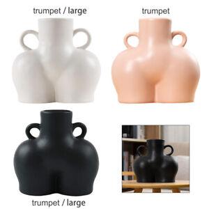 Creativity Human Vase Ceramic Butt Plant Pot Planter Handmade Ornament