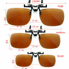 New Fashion Polarized UV 400 Clip-on Flip-up Sunglasses Driving Glass UK Seller