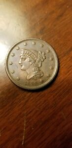 1840 Small Date Large Cent XF Details