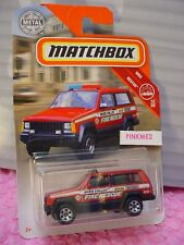 2019 Matchbox #51 JEEP CHEROKEE POLICE☆Red; RIVER VALLEY FIRE RESCUE☆MBX Rescue☆