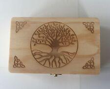 Hecho a mano de madera Caja de Tarjeta de tarot para el almacenamiento de sus tarjetas de Tarot + Gratis Bolsa De Terciopelo