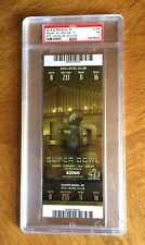 Graded GOLD SUPER BOWL 50 NFL TICKET -  Near Mint PSA 7 Broncos & Panthers