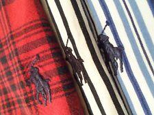 Lot of 3 Ralph Lauren Men's Polo Shirts Size XXL Blue Red L/S Top w/ Pony 2XL