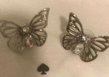 1b65392ff Kate Spade Silver Color social Butterfly Large statement Earrings