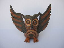 OAXACAN WOOD CARVING GORGEOUS OWL  MEXICAN FOLK ART