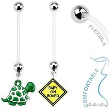 PTFE Bioflex Bauchnabelpiercing Schwangerschaft Schildkröte Baby on Board