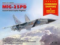 ICM 48903 - 1/48 MIG-25 PD Soviet Interceptor Fighter Aircraft, model kit
