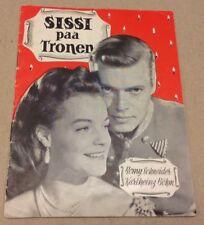 """Sissi"" Romy Schneider Karlheinz Böhm Original Old 1955 Danish Vtg Movie Program"