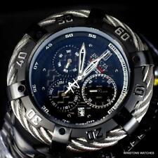 Invicta JT Thunderbolt Black Stainless Steel 54mm Swiss Mvt Chrono Watch New