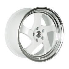 18x9.5 Whistler Rims KR1 5x100 +35 White/Machined Lip Wheels (Set of 4)