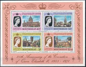 Montserrat  - MNH Queen Elizabeth II 25th anniversary Souvenir Sheet  (1978)