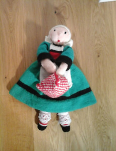 Handmade Tricoté wool becassine doll