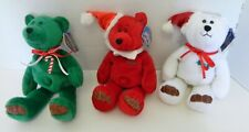 Limited Treasures Holiday Edition 98' Bears Stuffed Collectibles Lot of Three