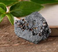 HEMATITE Crystal w/ RUTILE - One Medium Raw Hematite Crystal E0475