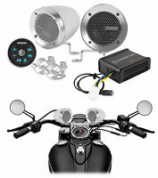 Memphis Bluetooth Motorcycle Speakers For Royal Enfield Classic Stealth Black