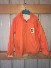 Golden Harvest Blaze Orange Mens Lined Bob Hadley Racing Jacket Size Medium