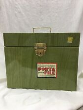 Mid Century Porta File metal storage box vintage scrapbooking crafts 12.5 X10