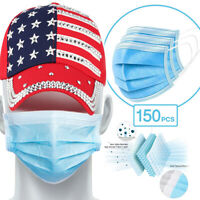 [150 Pc/Box] Face Mask Disposable Non Medical Surgical 3-Ply Earloop Mouth Cover