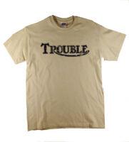 Trouble Cafe Racer Norton Triumph British Bike Motorcycle Retro Natural T-Shirt