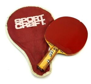 Yasaka Mark V With Buttefly Paddle Cover Ping Pong Allround Wood C16 W/Case Used